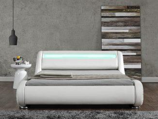 DIABLO LED Doppelbett/Polsterbett in weiß - traumhaft schön!