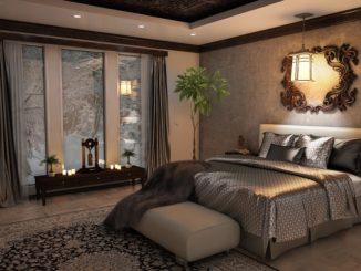 Ein toll eingerichtetes Schlafzimmer