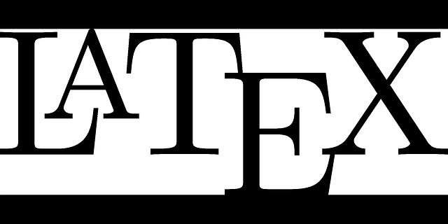 Latex Schriftzug